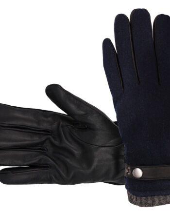 meeste nahkkindad villase voodriga sinine Hofler Premium