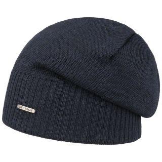meriino müts oversized sinine Stetson