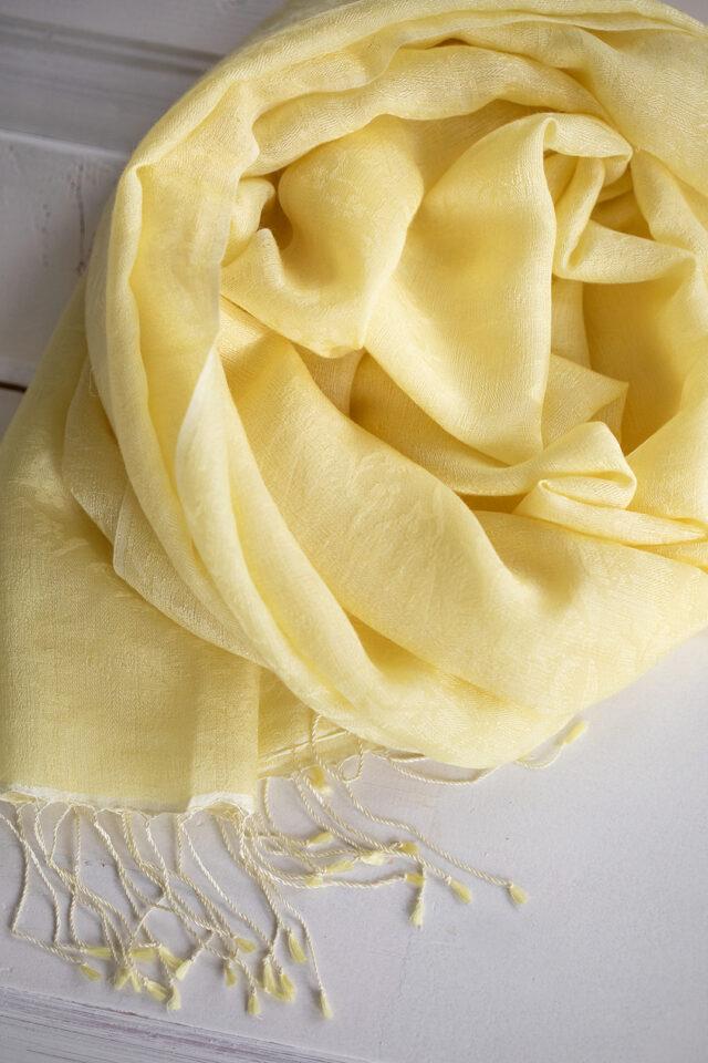 pashmina-siidi sall kollane