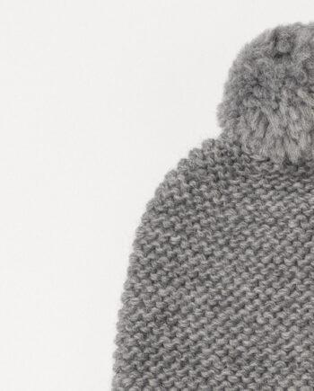 villane kootud tutimüts hall