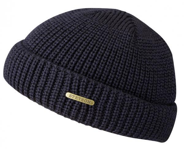 wool beanie dark blue Stetson