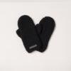 woolen mittens womens black